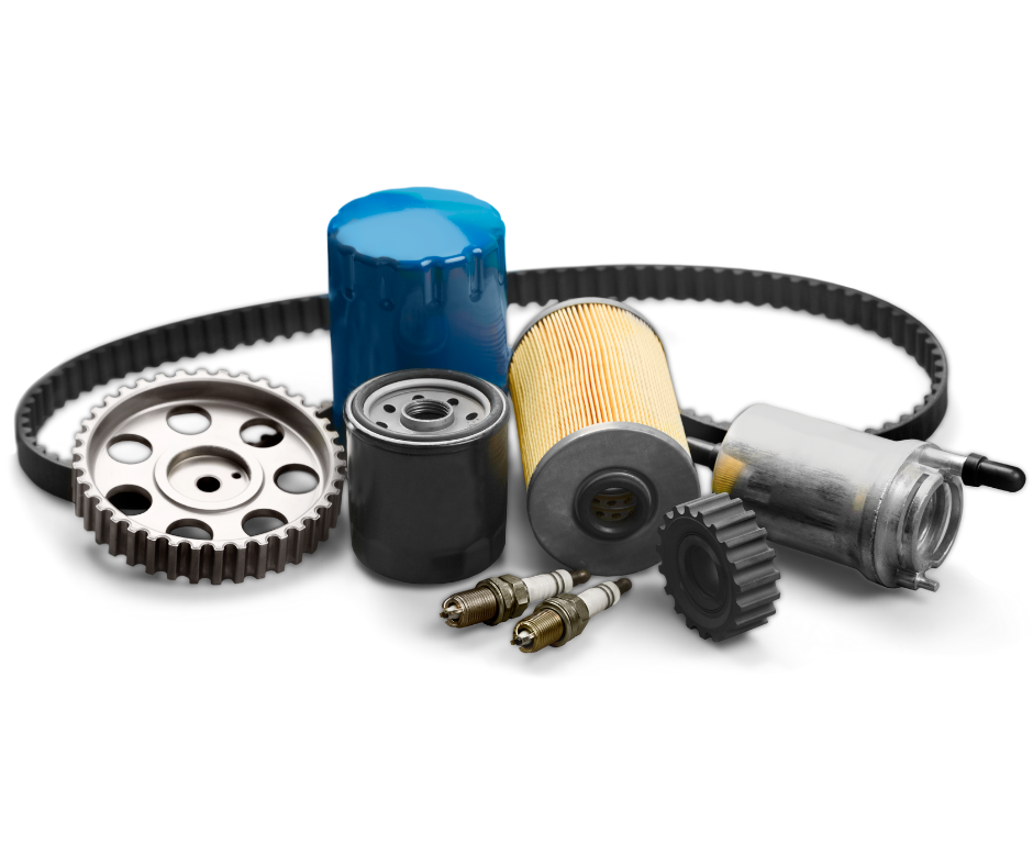 Various car parts we replace or check at time of service.